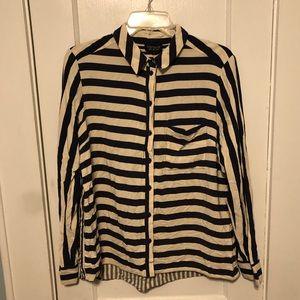 TopShop striped button down shirt